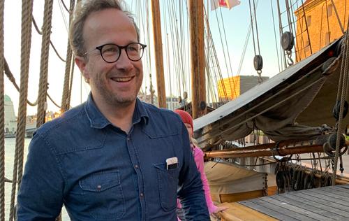 Andri Snær Magnasson og Heiða Ásgeirsdóttir i samtale Jesper Theilgaard om klimaaktivisme